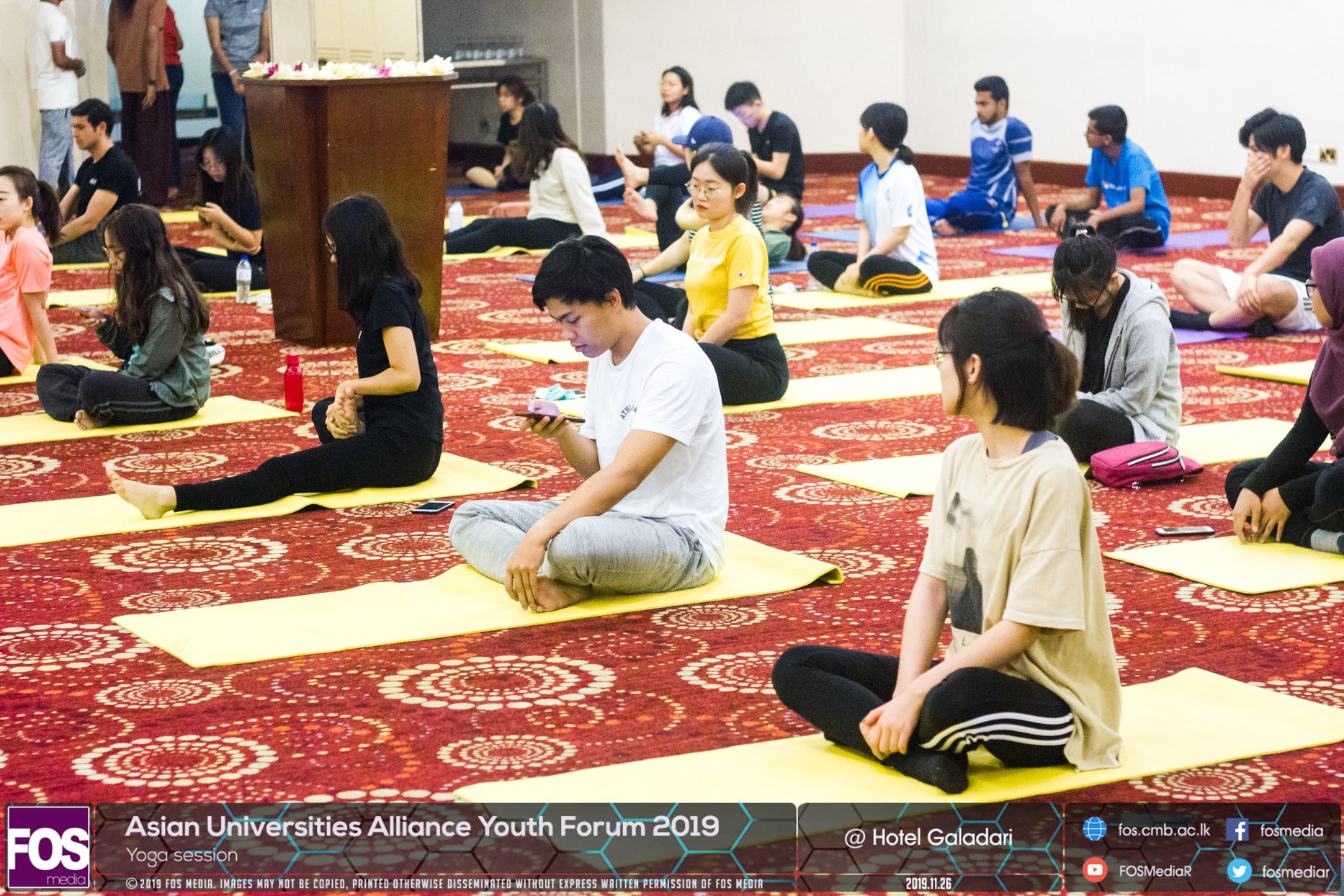 AUAYF 2019 – Day 03 – Yoga Session